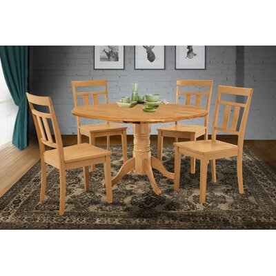 Chesterton 5 Piece Wood Dining Set Finish: Oak