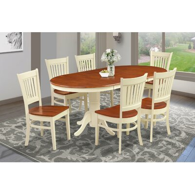 Inwood Traditional 7 Piece Dining Set Finish: Buttermilk/Cherry