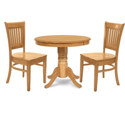 Cedarville 3 Piece Dining Set Color: Oak