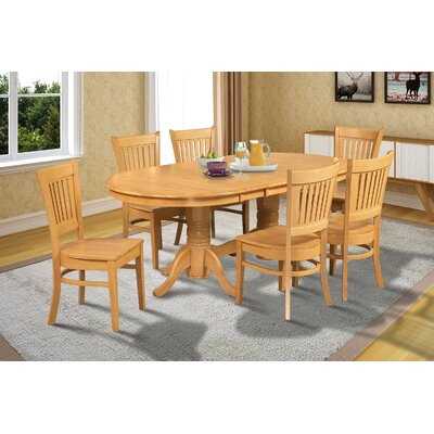 Lunde Traditional 7 Piece Dining Set Finish: Oak