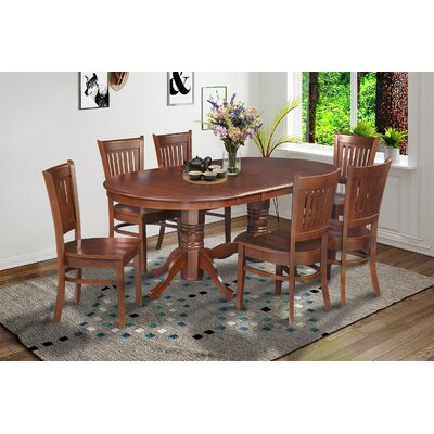 Lunde Traditional 7 Piece Dining Set Finish: Espresso