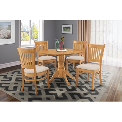 Chesterton Transitional 5 Piece Oak Dining Set