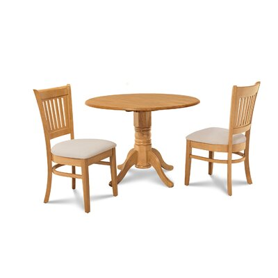 Chesterton Transitional 3 Piece Oak Dining Set
