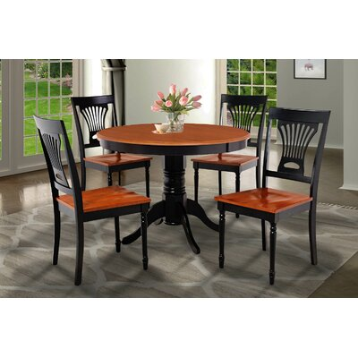 Cedarville Contemporary 5 Piece Dining Set Finish: Black/Cherry