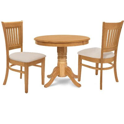 Cedarville 3 Piece Dining Set Finish: Oak