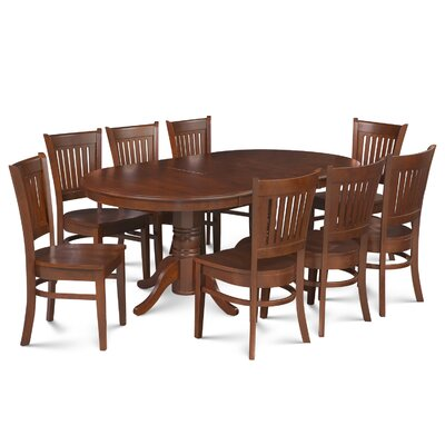 Lunde Traditional 9 Piece Dining Set Finish: Espresso