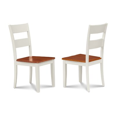 Nagle Solid Wood Dining Chair Finish: White/Cherry