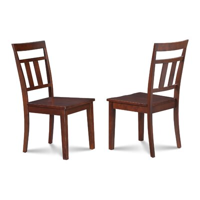 Chancey Solid Wood Dining Chair Finish: Mahogany