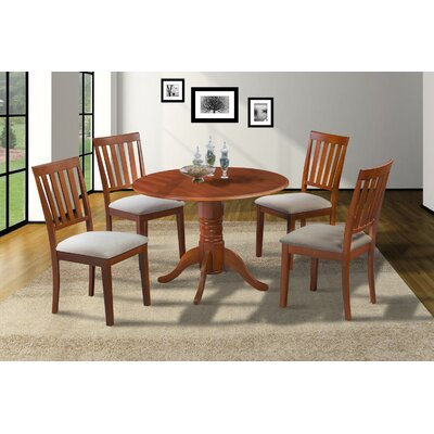 Chesterton Transitional 5 Piece Dining Set Finish: Saddle Brown