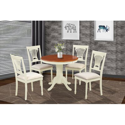Cedarville Contemporary 5 Piece Wood Dining Set Finish: Buttermilk/Cherry