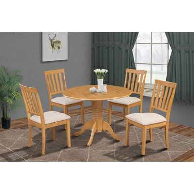 Chesterton Transitional 5 Piece Dining Set Finish: Oak