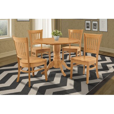 Chesterton 5 Piece Oak Dining Set