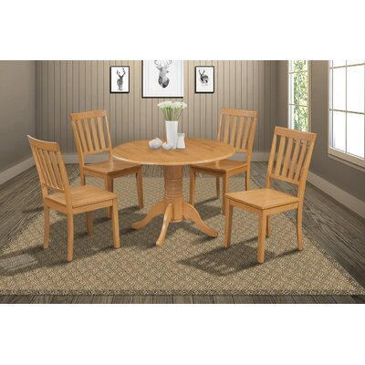 Chesterton Transitional 5 Piece Wood Dining Set Finish: Oak
