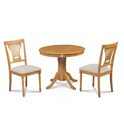 Cedarville Contemporary 3 Piece Dining Set Finish: Oak