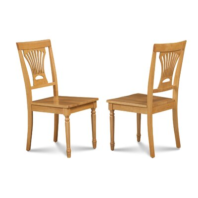 Lunde Solid Wood Dining Chair Finish: Oak