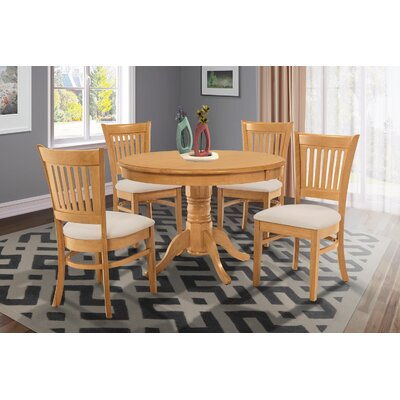 Cedarville Elegant 5 Piece Dining Set Finish: Oak