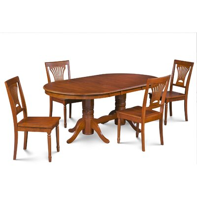 Inwood 5 Piece Carved Dining Set Finish: Saddle Brown