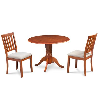 Chesterton 3 Piece Dining Set Finish: Saddle Brown