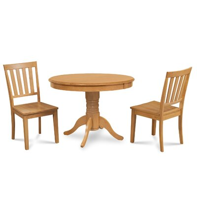 Cedarville 3 Piece Oak Dining Set