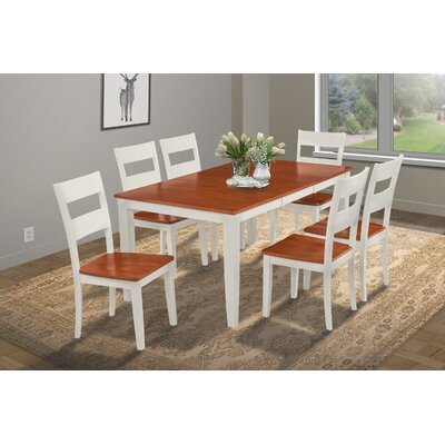 Charlestown 7 Piece Hardwood Dining Set Finish: White