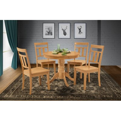 Cedarville 5 Piece Solid Wood Dining Set Finish: Oak