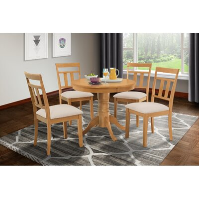 Cedarville 5 Piece Carved Dining Set