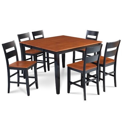 Charlestown 7 Piece Counter Height Dining Set Finish: Black