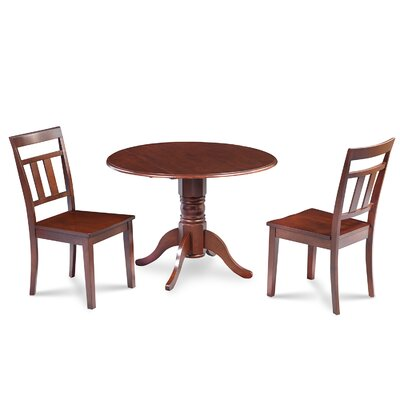 Chesterton Transitional 3 Piece Wood Dining Set Finish: Mahogany