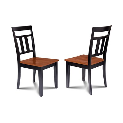 Chancey Solid Wood Dining Chair Finish: Black/Cherry