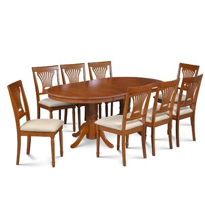 Inwood 9 Piece Carved Dining Set Finish: Saddle Brown