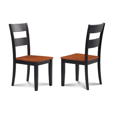 Charlestown Solid Wood Dining Chair Finish: Black/Cherry