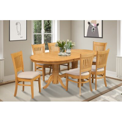 Lunde 7 Piece Dining Set Finish: Oak