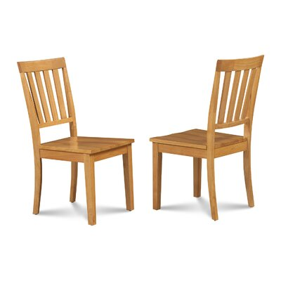 Chicago Dining Solid Wood Dining Chair Finish: Oak