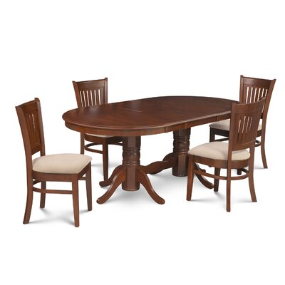 Inwood Traditional 5 Piece Dining Set Finish: Espresso