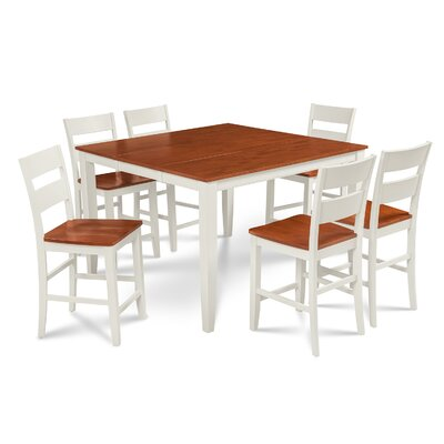 Charlestown 7 Piece Counter Height Dining Set Finish: White