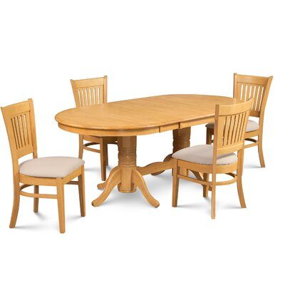 Lunde Traditional 5 Piece Dining Set Finish: Oak