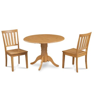 Chesterton Traditional 3 Piece Wood Dining Set Finish: Oak
