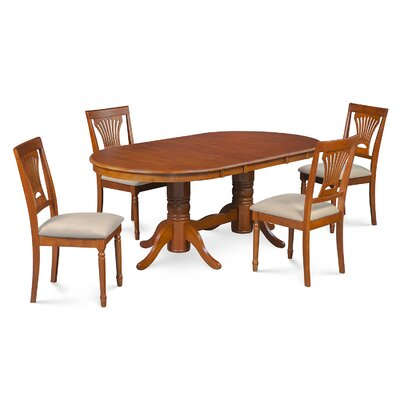 Lunde 5 Piece Dining Set Finish: Saddle Brown