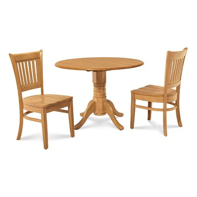 Chesterton 3 Piece Carved Oak Dining Set