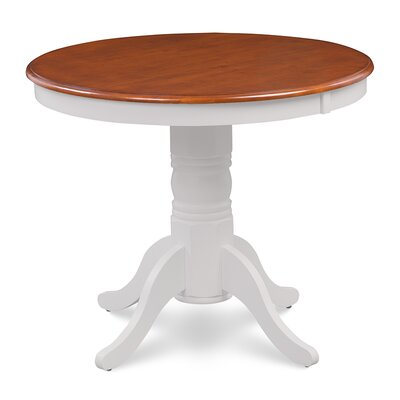 Cedarville Dining Table Color: White/Cherry
