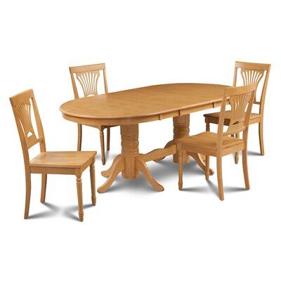 Inwood 5 Piece Carved Dining Set Finish: Oak