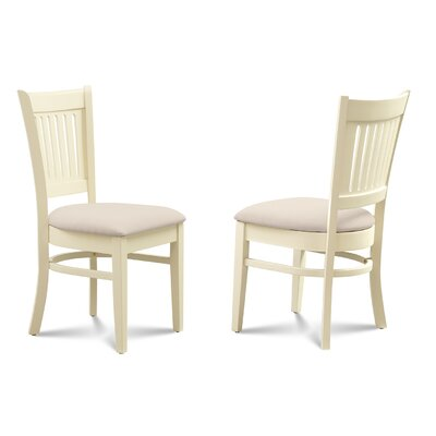 Corcoran Microfiber Soft Padded Dining Side Chair Finish: Buttermilk/Off White