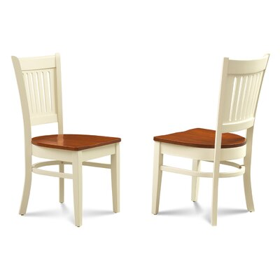 Corcoran Solid Wood Dining Chair Color: Buttermilk/Cherry
