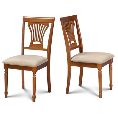 Inwood Soft Padded Dining Side Chair Finish: Saddle Brown