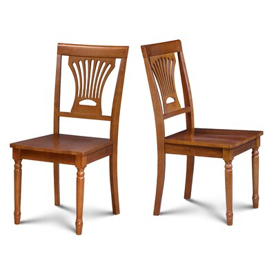 Lunde Solid Wood Dining Chair Finish: Saddle Brown