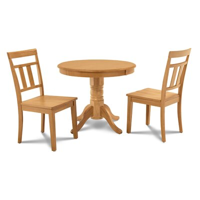 Cedarville 3 Piece Carved Wood Dining Set Finish: Oak