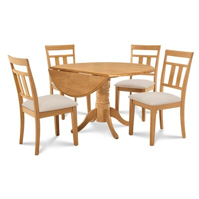 Chesterton 5 Piece Carved Wood Dining Set