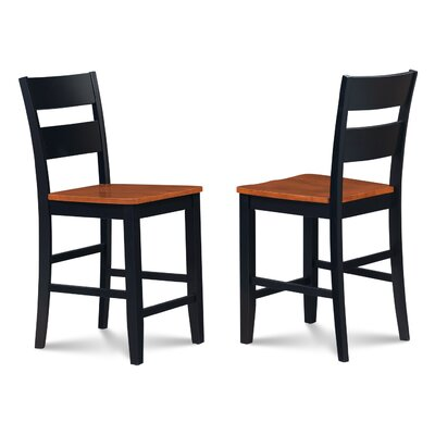 Charlestown Solid Wood 41 Bar Stool Finish: Black