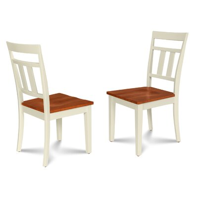 Chancey Solid Wood Dining Chair Finish: Buttermilk/Cherry