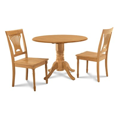 Chesterton Transitional 3 Piece Dining Set Finish: Oak
